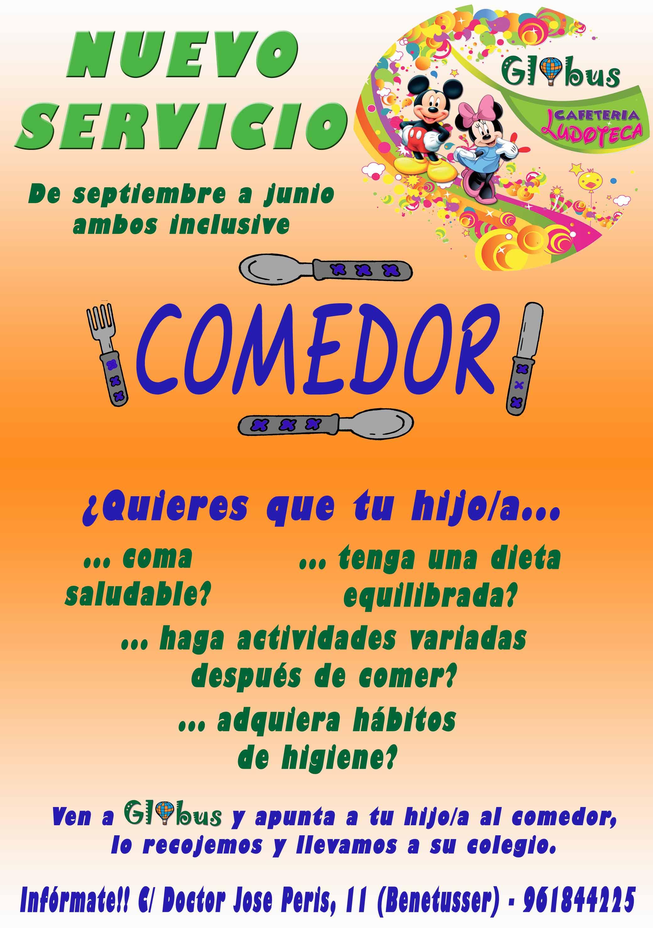 Comedor infantil en Valencia | Ludotecas Valencia