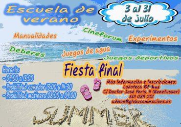 La escuela de verano en Valencia Globus Animacions